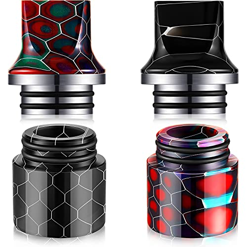4 Pieces 810 Drip Tips Resin 810 Drip Connector Tip Honeycomb Design Drip Tip Ice Maker Coffee Machine Accessory