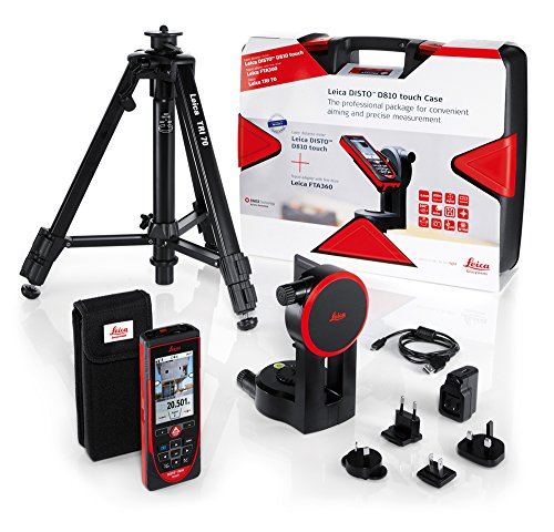38960-PE Leica DISTO D810 Touch Laser Distance Measurer Package Includes Leica DISTO D810 Touch, Tripod, Adapter, & Rugged Carrying Case