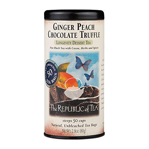 The Republic of Tea Ginger Peach Chocolate Truffle Black Tea Bags