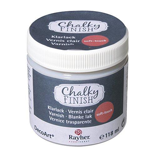 Rayher 38876000 Klarlack soft-touch, Dose 118 ml, Clear Varnish, Schutzlack zum Versiegeln von Acrylfarbaufstrichen, speichelfest, wetterfest