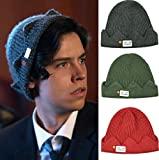 ASDFSD Hot Jughead Jones Riverdale Cosplay Winter Warm Beanie Hat Tema Exclusivo Crown Knitted Cap Hat Sombrero de cúpula Bordado