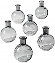 Serene Spaces Living 4 inches Smoke Ball Bud Vase, Set of 6