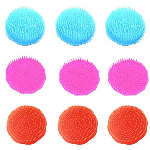 NUANNUAN 20 Piezas Masajeadores del cuero cabelludo en Masaje y relajación Sets juegos para maquillaje Cepillos para pelo forma redonda Peine de champú