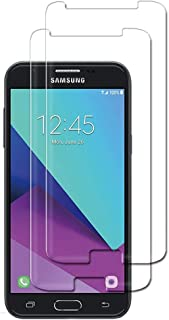 for Samsung Galaxy J3 2017 Tempered Glass Screen Protector - [2 PCS] for Samsung J3 2017 Prime J327 J327R4 J327T1 J327W J3 Amp Prime 2 SM-J327AZ Emerge J327A J327P J3 V 2017 J327V J327VPP Glass Film