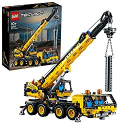 The crane truck toy features eight wheel steering, four individually controlled outriggers, two cabins and super-high telescopic arm 30 Inch (78 cm) long Crane operator's cabin turns around, hydraulic mechanism lifts the arm 70 Degree, while crane bl...