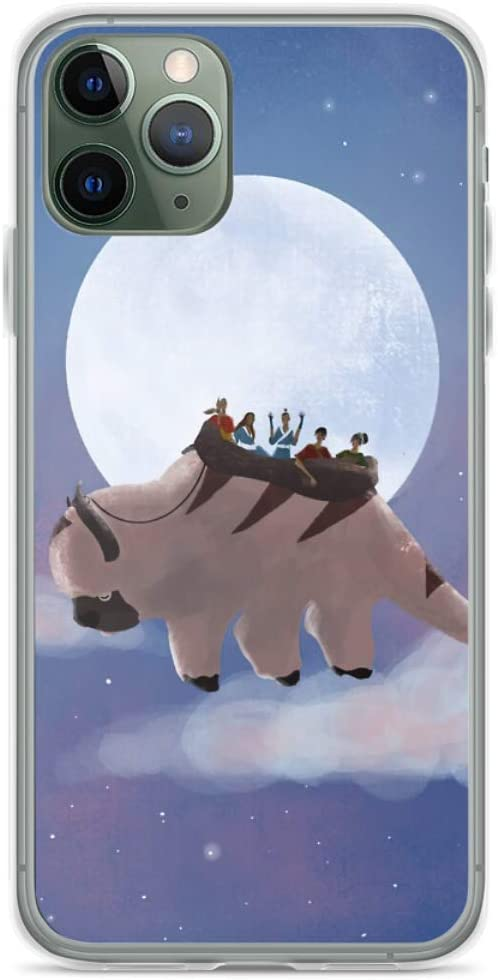 Phone Case Appa and Team Avatar Under The Moon Compatible with iPhone 7/8 Plus Pure Clear Phone Case Waterproof Accessories Charm