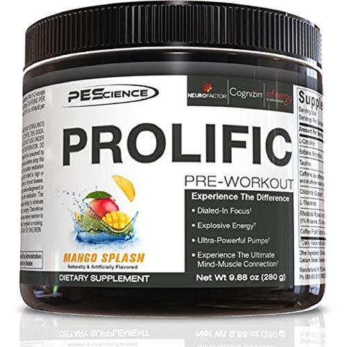 PEScience Prolific, Sunrise Flavor, Stimulant Pre Workout, 9.88 oz, 40 Scoops