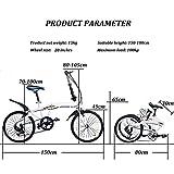 DODOBD Bicicleta Plegable para Hombres y Mujeres, Bicicleta Retro de Ciudad, Bici 20 Pulgadas Adulto de Velocidad Variable para Trabajo Ligero para Automóvil, Bici Plegable Urbana