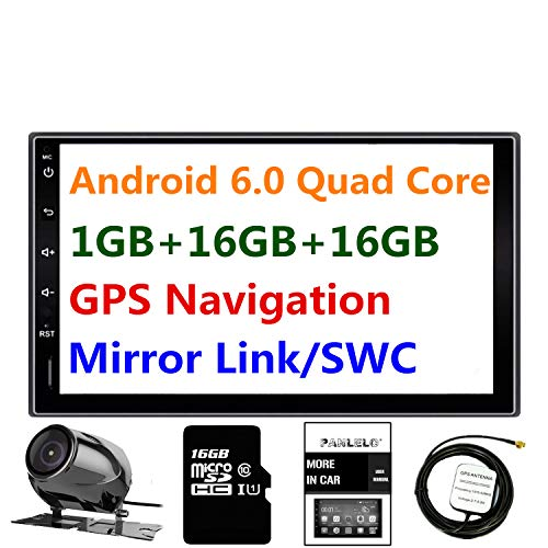 Car Stereo Android 6.0 Panlelo PA09YZ 1GB RAM 16GB ROM Rear view camera AM/FM/RDS Quad Core Auto Radio Head Unit 2 Din 7 inch 1024 * 600 1080P HD Touch Screen Mirror Link BT SWC