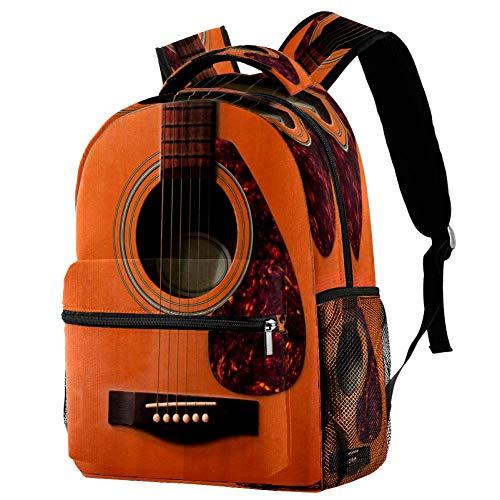 Mochila de madera de la guitarra de la mochila de la escuela del bolso del libro mochila casual para, estampado 7 (Multicolor) - bbackpacks004