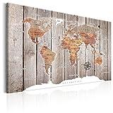 murando Cuadro en Lienzo 120x80 cm Poster Mapa del Mundo 1 Parte Impresión en Material Tejido no Tejido Impresión Artística Imagen Gráfica Decoracion de Pared k-C-0050-b-b