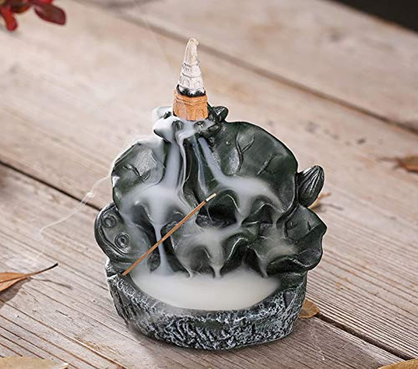 ウェイター誠実病者PHILOGOD香炉ロータススタイリング陶器逆流香炉線香香立て仏壇用香置物/香皿
