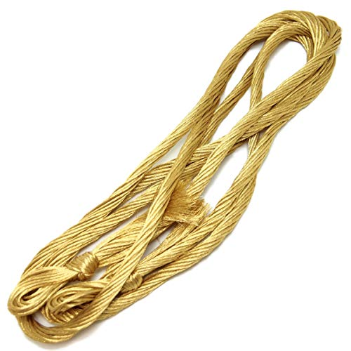 【町田絲店】24玉(彩)組紐用絹糸/正絹組糸/帯締め用/組紐作製用正絹糸 (金)