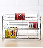 Organize It All 1866W-1 Can Rack, 12.75 in. high x 15.875 in. wide x 18 inches deep, Chrome
