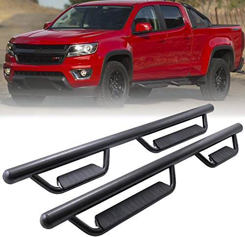 Chevy Colorado Running Boards Side Step Nerf Bars Hoop Bar Drop Step Style for 2015-2020 Chevrolet Colorado/GMC Canyon Crew Cab,Matte Black,3 Inches,OE Style