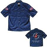 STP(エスティーピー) バイク ワークシャツ ピットシャツ STP19109S (インディゴ、XLサイズ)
