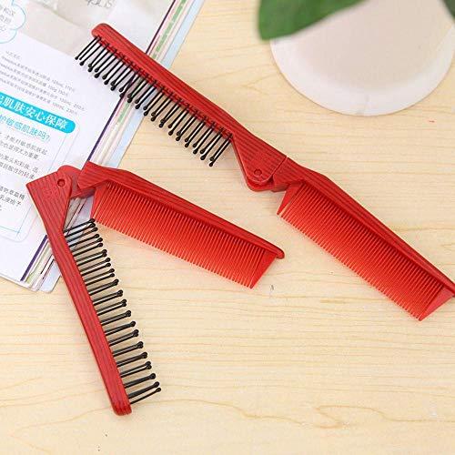 DSJ Femmes Salon Anti-Statique Peigner Coiffure Pliante Peigne Pliable