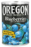 Oregon Fruit Products - Blueberries in Light Syrup - 15 oz (pack of 2)