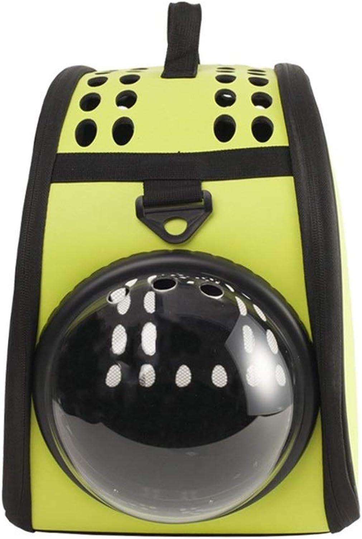 Douhuayu Pet Out Portable Folding Single Shoulder Bag cat Dog Travel pet Bag (color   Yellow)