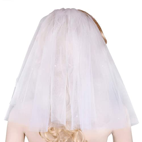 Girls 2 Tier White First Holy Communion Veil with Diamante Crystals Wedding Girl