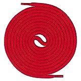 Mount Swiss runde Premium-Schnürsenkel für Arbeitsschuhe Wanderschuhe und Trekkingschuhe - 100% Polyester - extrem reißfest - ø 5 mm - Farbe Rot Länge 150cm