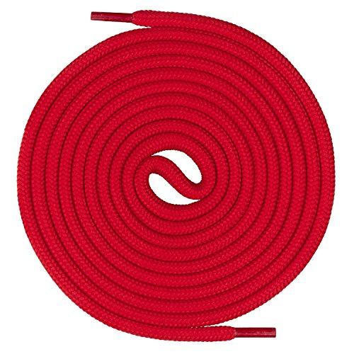 Mount Swiss runde Premium-Schnürsenkel für Arbeitsschuhe Wanderschuhe und Trekkingschuhe - 100% Polyester - extrem reißfest - ø 5 mm - Farbe Rot Länge 140cm