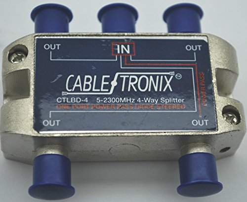 NEW CABLETRONIX 4-WAY CTLBD-4 SPLITTER 5-2300 MHz ONE PORT POWER PASSING