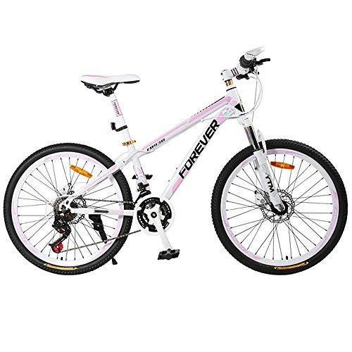 DelongKe Damen Mountainbike 26 Zoll - Mountain Bike Mit 27 Gang MTB Fahrrad Für Herren Und Damen Federgabel Gabelfederung, Mädchen-Fahrrad &-Damen-Fahrrad,B