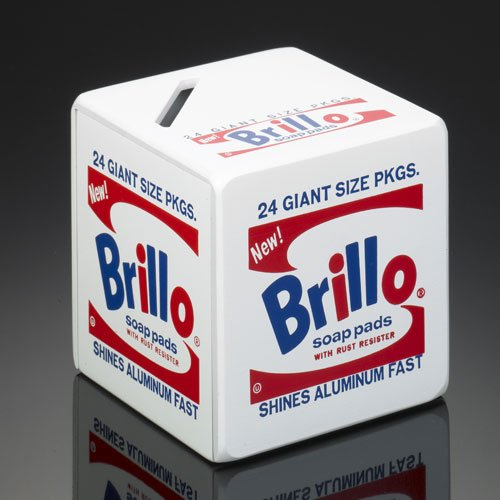 Andy Warhol by TROIKA Brillo Box gestaltete Aluminium Einsparung Box mit Ingenious Öffnung Gerät
