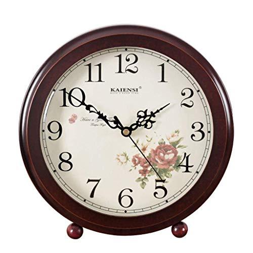 O&YQ Horloge de Table de Comptoir Horloge de Bureau Rétro Horloge de Bureau avec Réveil Décoré de Table de Salle à Manger de la Personnalité de la Personnalité Muette Il S'Applique Aux Familles Aux B