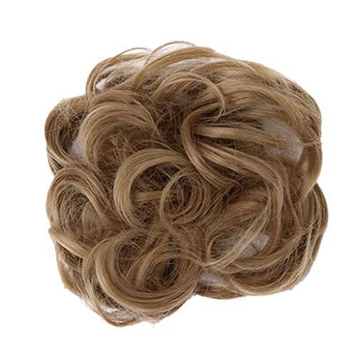 HULKY Haargummi-Haarteil, Haarknoten,Pferdeschwanz, Hochsteckfrisuren Brautfrisuren Voluminös Leicht Gewellt Unordentlich Dutt Haaraccesoire (2)