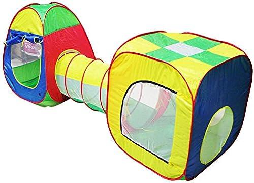 Kinder Spielzelt, Indoor   Outdoor Spiel-Tunnel und Spiel-Zelt Cubby-Rohr-Teepee 3 in 1 Spielplatz für Kinder (blau)