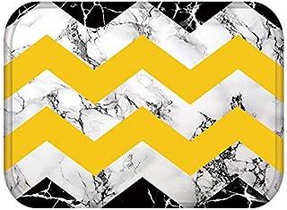 HLXX Geometrisk marmor kök entré dörrmatta mocka matta gummi färg inomhus golvmatta halkfri matta A7 40 x 60 cm