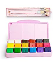 MIYA Gouache Paint Set, 18 Colors x 30ml Unique Jelly Cup Design, Portable Case with Palette for Artists, Students, Gouache Watercolor Painting