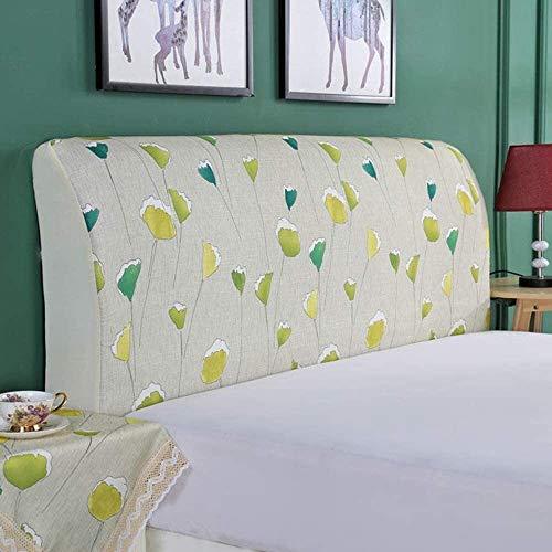 Funda cabecero de la cama cabecera de la tela a prueba de polvo del protector de la cubierta anti-colisión suave de la caja con todo incluido del respaldo del amortiguador decoración lavable universal