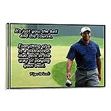 XIAOGANG Poster mit inspirierendem Golf-Ablenkungszitat von