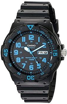 Casio Unisex MRW200H-2BV Neo-Display Black Watch with Resin Band