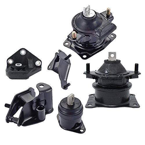 ENA Engine Motor and Trans Mount Set of 6 Compatible with 2003-2007 Honda Accord 2.4L Compatible with Automatic Trans