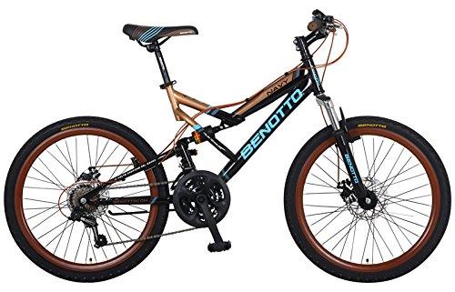 Benotto MDHNAV2421UNNE Bicicleta de Acero Rodada R24, Hombre, 21 Velocidades