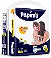 Papimo Baby Pants Diapers with Aloe Vera, Large (9 - 14 kg), 64 Count