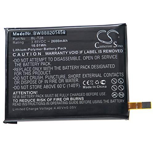 vhbw Batería Compatible con LG Q7 Alpha, Q7 Alpha LTE, Q7 Dual SIM móvil, Smartphone teléfono (2600mAh, 3,85V, polímero de Litio)