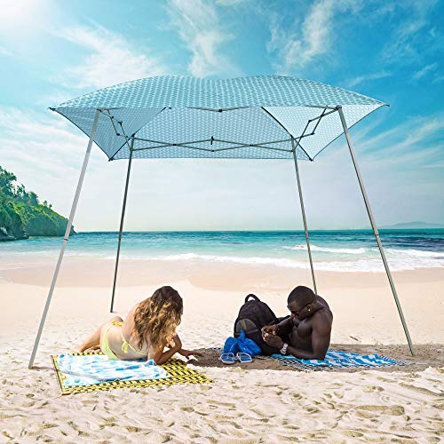GOJOOASIS Ez Pop Up Canopy Party Tent with Carry Bag Instant Shelter Slant Leg Easy Gazebo (8'x8', Green Stripe)