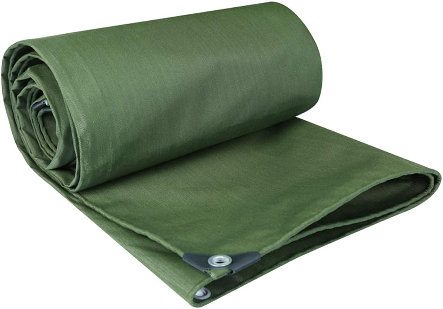 RMJAI Tarp Waterproof Heavy Duty,Tarpaulin Waterproof,Oxford Cloth Tent, Army Green Flame Resistant Poly Tarpaulin UV Resistant(0.75mm) (Size   5x5M)