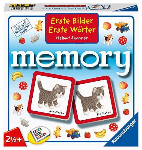 Ravensburger Kinderspiele, 88688 Erste Bilder - Erste Wörter memory®, mit Motiven aus dem Kinderbuch Bestseller von Helmut Spannner, Spielzeug ab 2 Jahren