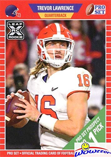 TREVOR LAWRENCE 2021 Pro Set #PS1 FIRST EVER ROOKIE Card in MINT Condition in Top Loader! FIRST Pro Set Card in 30 Years! Awesome Limited Edition Short Print Rookie of 2021 NFL #1 Draft Pick! WOWZZER!