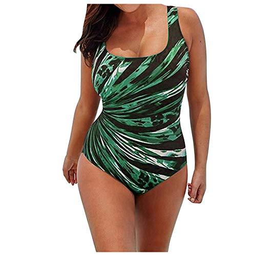 JXQ-N Traje de baño Faishon para Mujer, Traje de baño de Rayas degradadas Conservador para Mujer, Bikini de Talla Grande(#032518)