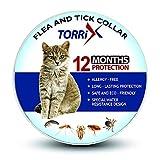 TORRIX - Collare antipulci e zecche per gatti – 12 mesi di prevenzione pulci e zecche per gatti regolabile e impermeabile