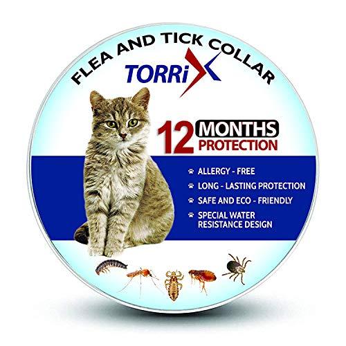 TORRIX - Collare antipulci e zecche per gatti – 12 mesi di prevenzione pulci e zecche...