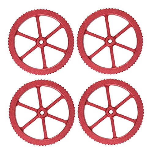 Jorzer Upgraded Aluminum Hand Twist Leveling Nut with 4 Hot Bed Die Springs for Ender 3 Printer 4pcs