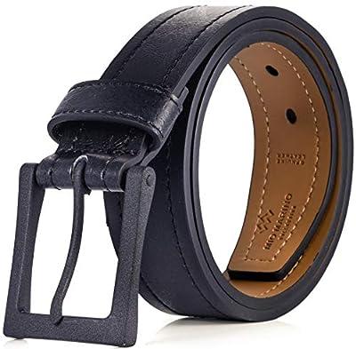 "Marino Avenue Men's Genuine Leather Belt, Classic Jean Style, 1.5"" Width"